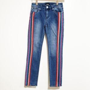 HUDSON Girl Rainbow Stripe Cotton Vicose Jeans